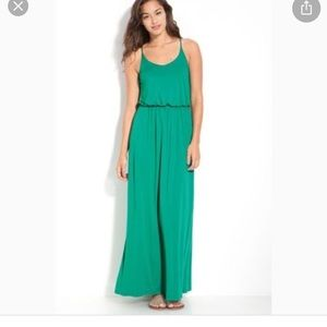 Lush green maxi dress